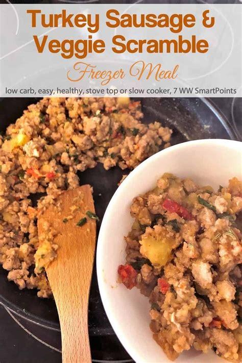 ground turkey veggie breakfast scramble freezer meal