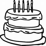 Cake Coloring Birthday Colouring Outline Cakes Template Clipart Clip Printable Happy Candles Clipartmag Clipartbest Cliparts sketch template
