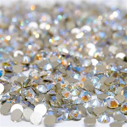 Crystal Shimmer Swarovski Flat Crystals Backs