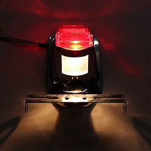 Motorcycle Rear Tail Lights Brake Stop Light Lamp License