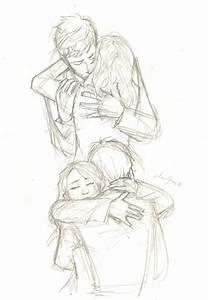 Anime Girl And Boy Hugging Sketch   www.imgkid.com - The ...