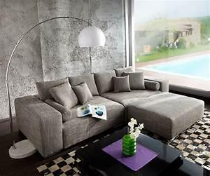Big Sofa 250 Cm : big sofa marbeya 290x120 hellgrau couch mit hocker m bel sofas big sofas ~ Bigdaddyawards.com Haus und Dekorationen