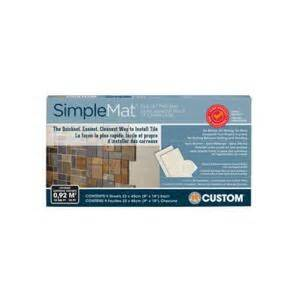 custom building products simplemat 10 sq ft tile setting mat sm10r1 the home depot