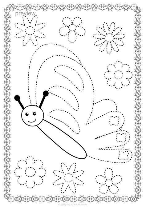 pin  anastasiya multimedia studio  trace  color pages preschool fine motor activities