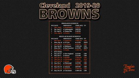 cleveland browns wallpaper schedule