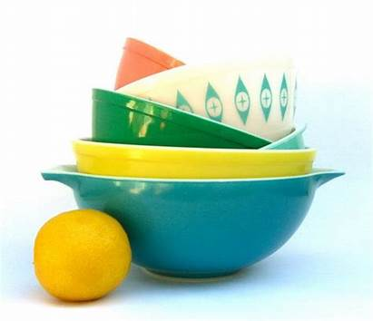 Mixing Yellow Pyrex Bowls Primary