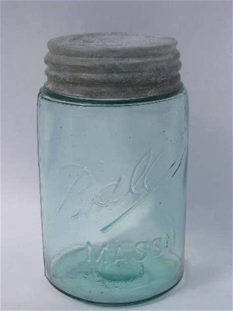 green canning jars value antique aqua blue green pint size ball mason canning jar w zinc lid