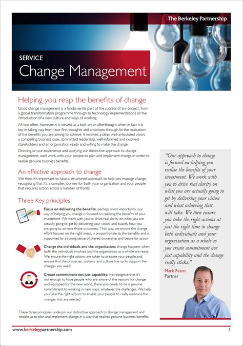 change management consulting berkeley partnership