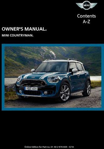 service repair manual free download 2011 mini countryman windshield wipe control 2017 mini countryman owner s manual pdf 268 pages