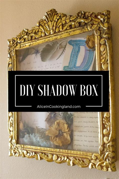 wedding shadow box alice  cookingland