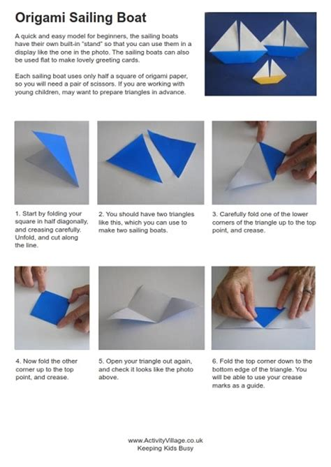 Origami Sailing Boat Instructions by Rod Stewart Sailing Driverlayer Search Engine