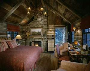 30 dreamy cabin interior designs sortra for Log homes interior designs 2