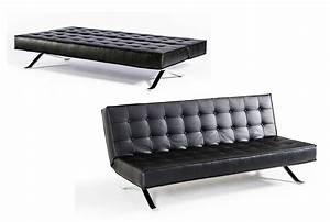 Black leather sofa sleeper vg44 sofa beds for Black leather modern sectional sofa sleeper with ottoman