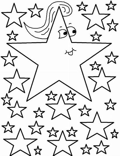 Moon Coloring Stars Pages Printable Star Getcolorings
