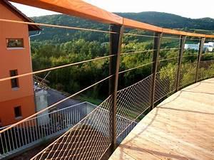 Garde Corps Terrasse Aluminium : garde corps de terrasse en bois metal concept escalier ferronnerie d 39 art alsace ferronnier ~ Melissatoandfro.com Idées de Décoration