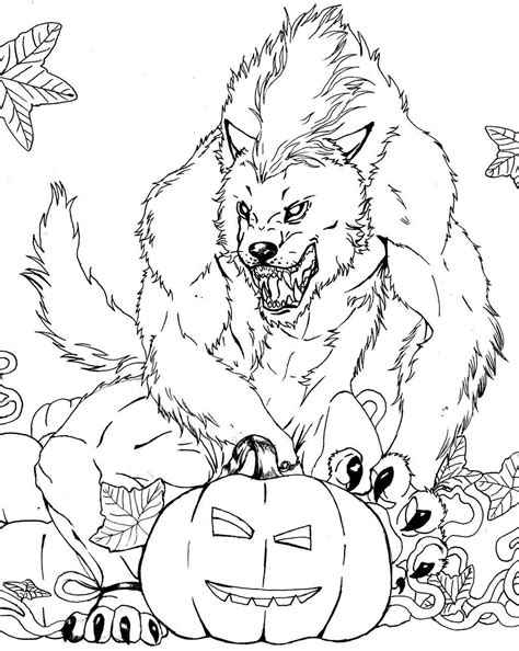 Free Werewolf Coloring Page | Lineart: Classic Movie