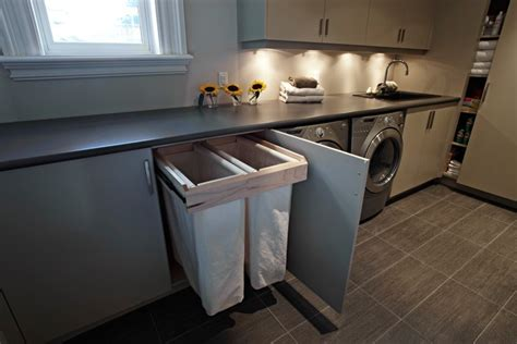 Good-looking Laundry Sorting Bins With Drying Rack White Trim
