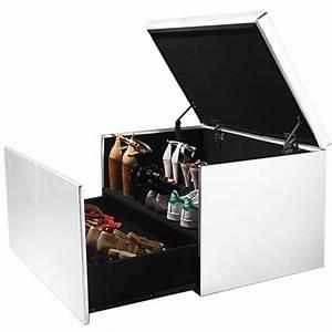 Coffre Rangement Chaussure : coffre rangement banquette luxe blanc sp cial chaussures accessoir ~ Teatrodelosmanantiales.com Idées de Décoration