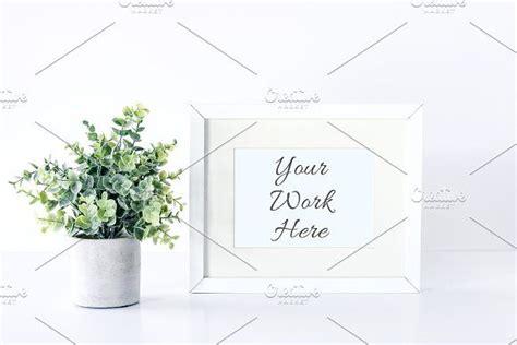 eucalyptus  frame mockup frame mockups floral photo