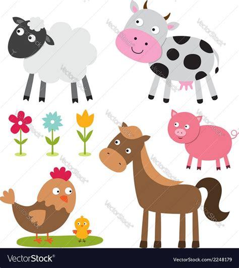 farm animals vector set    preview  high