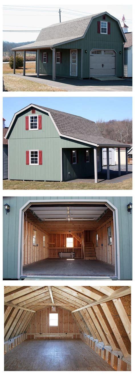 wide   long    overhang  gambrel barn