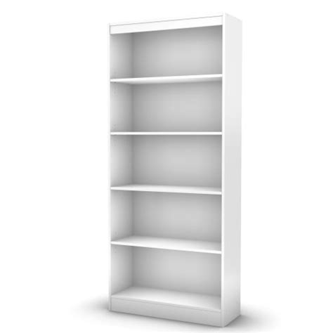 South Shore White Bookcase by South Shore Axess Collection 5 Shelf Bookcase White