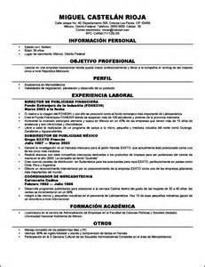 curriculum vitae formato apa curriculum vitae formato mexico free sles exles format resume curruculum vitae