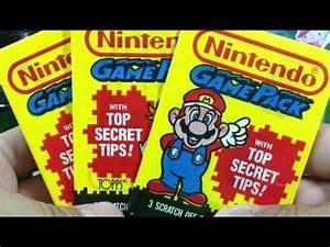 Retro Nintendo Game Pack Cards - Three Pack Break Mario ...
