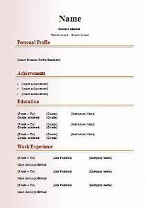 modern cv template With curriculum vitae format download