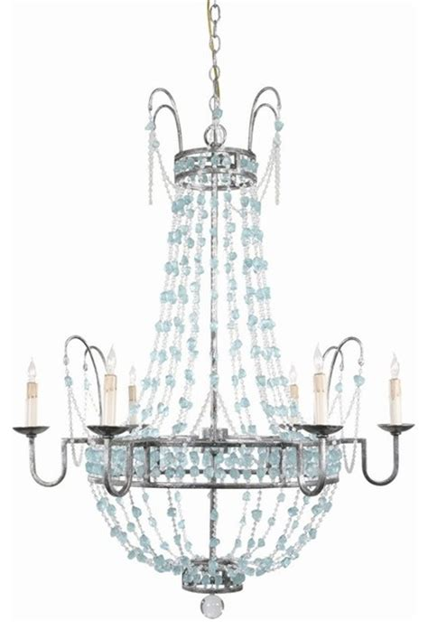Aqua Chandelier by Versailles Aqua Glass Chandelier Traditional