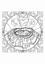 Volcano Coloring Anti Stress Adults Adult Complex Volcanic Anxiety Zen Eruption Printable Zentangle Drawing Volcanoes Mandala Nature Luxury Abstract Soon sketch template