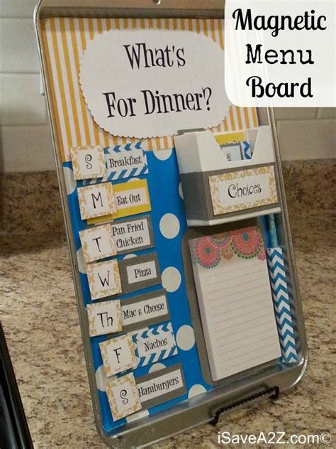 magnetic menu board easy craft