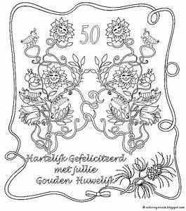 Kleurplaat 60 Jaar Huwelijk  U2022 Kidkleurplaat Nl