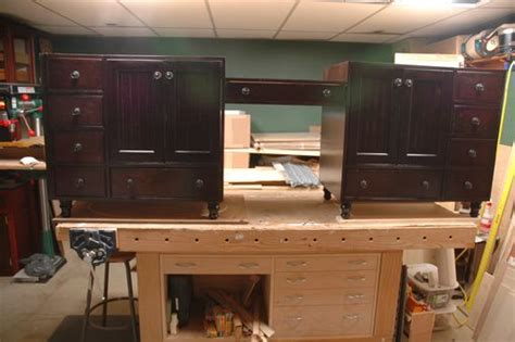 vintage kitchen sinks for handmade 96 quot vanity and makeup station by wooden it 8836