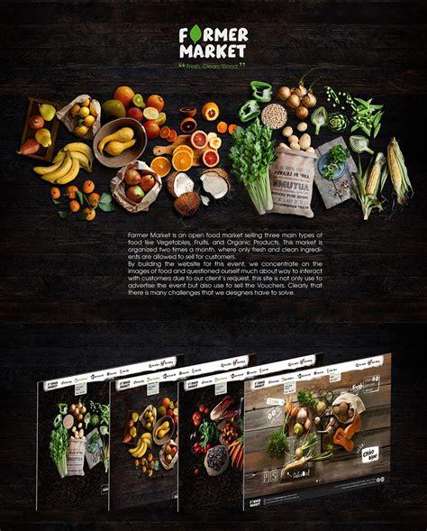 FARMER MARKET   Food Commercial   Web Design on Behance in ...