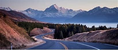 Zealand Road Mountains Trip Travel