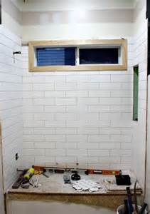 4x12 subway tile instead of 3x6 standard size less grout less busy allen roth 4x12 white