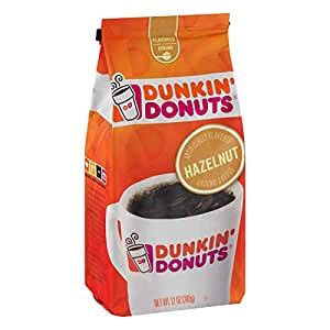 All i drink is coffee and dunkin' donuts ground hazelnut coffee is what i drink at home and bring in a thermos to work. Amazon.com : Dunkin' Donuts Hazelnut Ground Coffee, 12 oz(Pack of 4) : Grocery & Gourmet Food