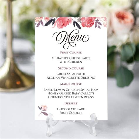 product   editable  printable menu template