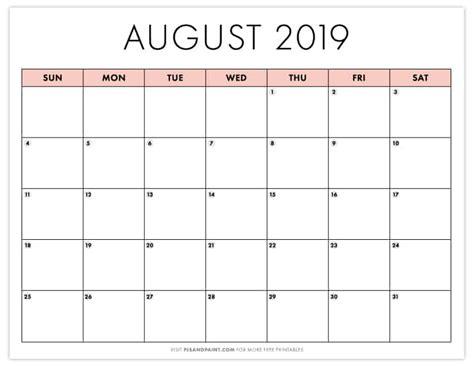 printable august calendar instant