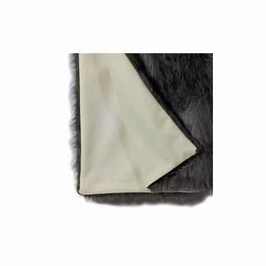 Plaid Blanc Fourrure : plaid prestige en laine blanc et fausse fourrure grise 145 x 170 cm ~ Teatrodelosmanantiales.com Idées de Décoration