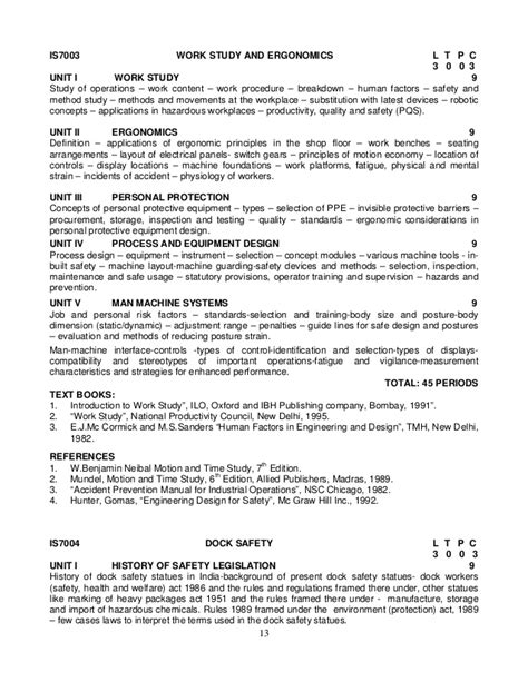 safety syllabus 2013 reg