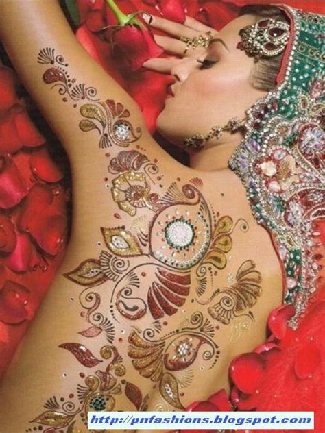 glitter mehndi body art  international fashions world