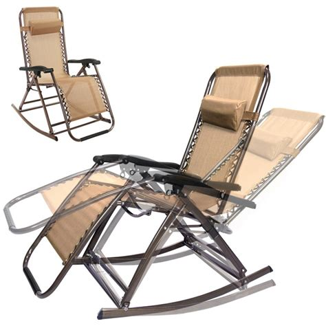 furniture gravity folding chairs recliner outdoor patio