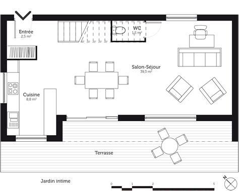 plan maison a etage 3 chambres plan maison à étage 110 m avec 3 chambres ooreka