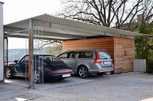 Doppelcarport Mit Abstellraum : doppelcarport mit abstellraum und holzverkleidung medam gmbh ~ Articles-book.com Haus und Dekorationen