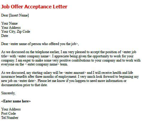 job offer acceptance letter exle icover org uk job offer acceptance letter sle forums learnist org