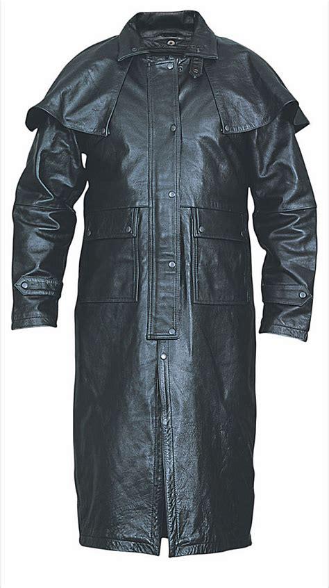 Split Cowhide Leather by Mens Split Cowhide Black Leather Duster Mlsj50 Leather