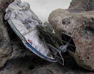 Millennium Falcon coffee table unfolds asteroid chase ...