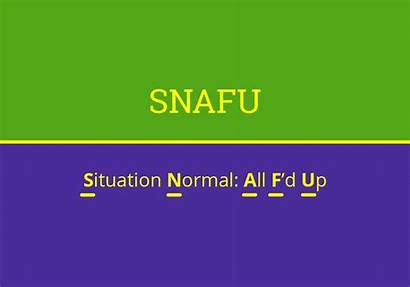 Words Acronyms Acronym Snafu Letter Four Dictionary